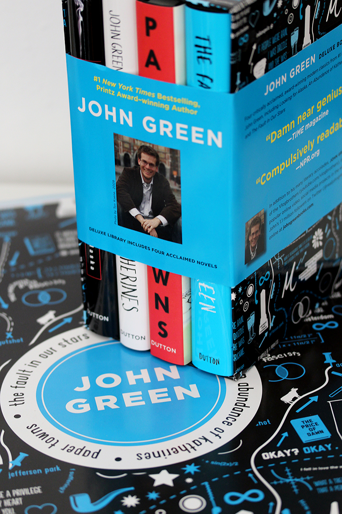 John Green boxed set -- photo by box designer Karen Kavett