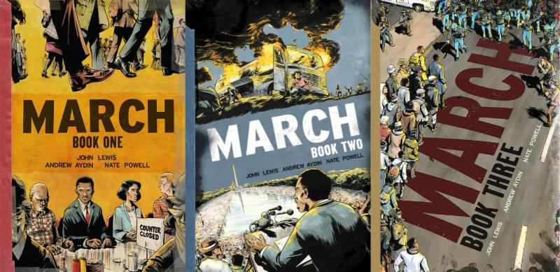 March all three covers