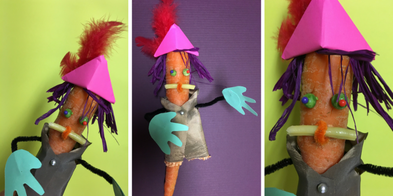how to make vegetable puppet