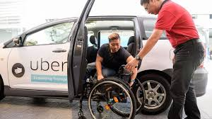 Wheelchair dependent person using Uber