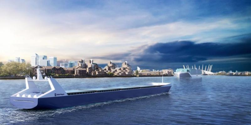Rolls-Royce crewless cargo ship