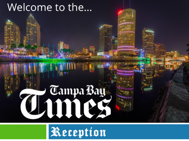 Tampa Bay Times Reception Sponsor