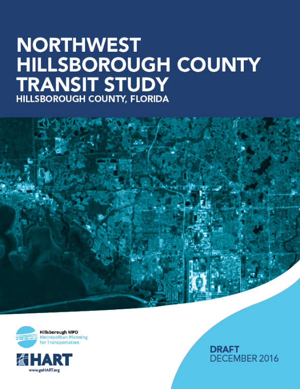 Cover of the Northwest Transit Study Draft