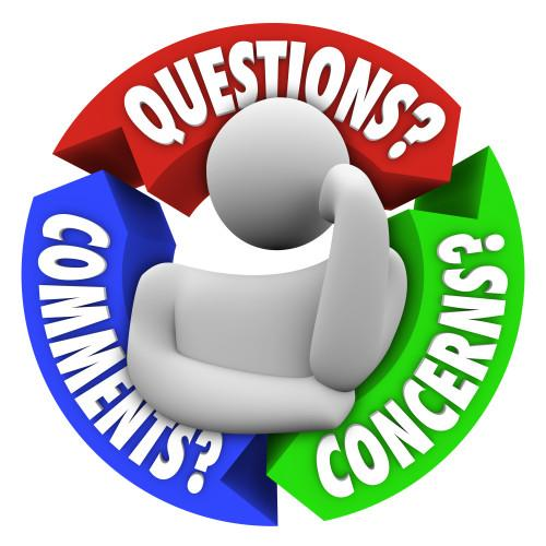 Question? Comments? Concerns?