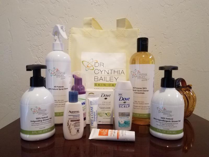 Dr. Bailey donated a collection of her custom 100% Natural household and personal care products