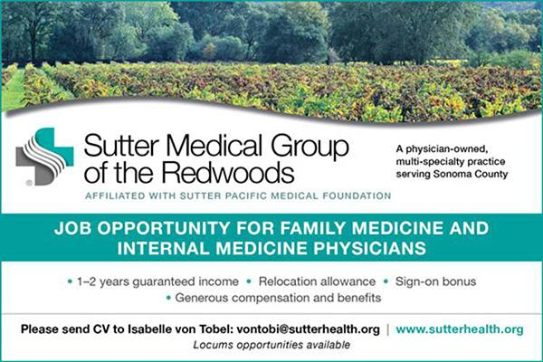 Sutter Medicl Group of the Redwoods Ad