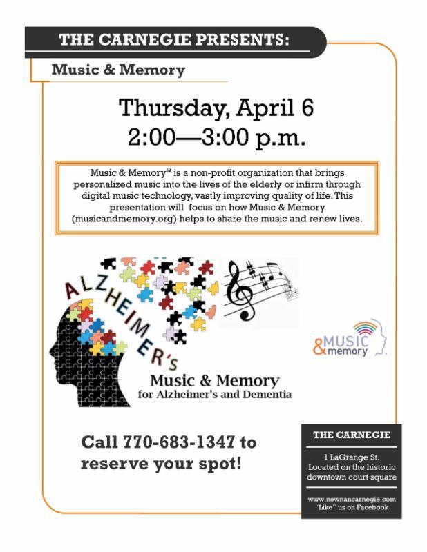 Carnegie Program – Music & Memory Carnegie Library