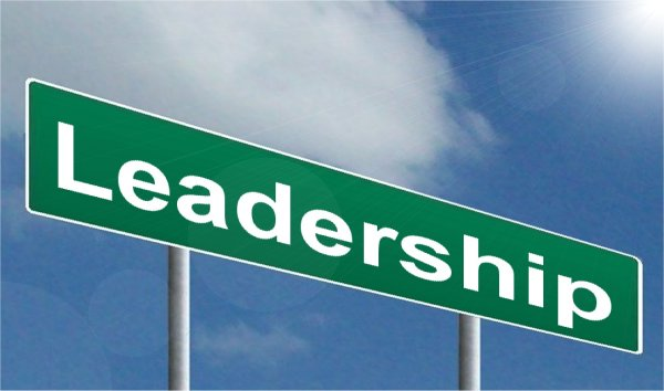 Road sign that says Leadership