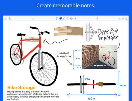 Screen shot of Notability app. Create memorable notes.