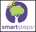 Smart Steps logo with sun and tree