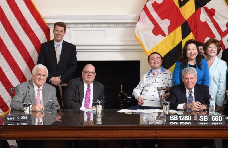 Josh Basile bill signing - photo credit: Executive Office of the Governor, Maryland.