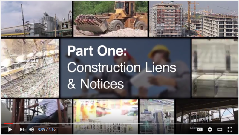 Construction Law Video Image