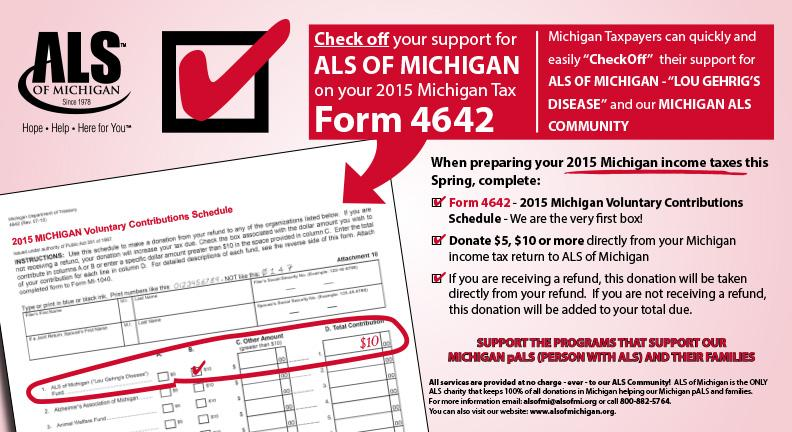 Can We Count On You? Important News From ALS of Michigan