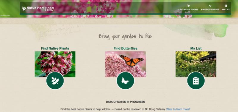 native plant finder website