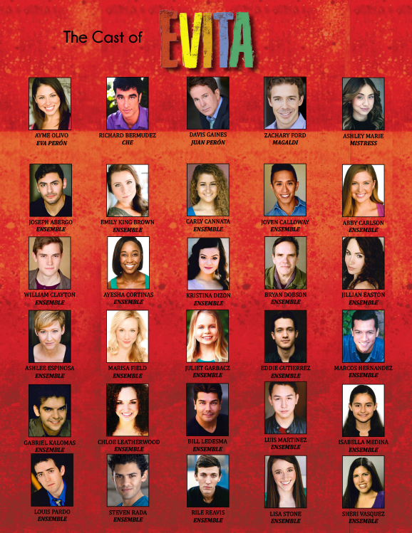 Evita Cast Announced - Great American Songbook Almost SOLD ...