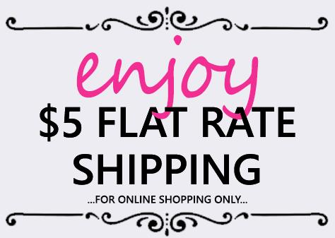 $5 Flat Rate Online Shipping