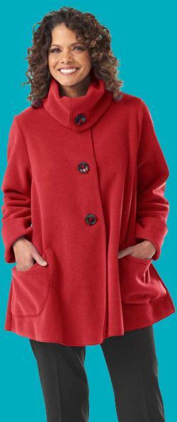 Red Tie Button Jacket