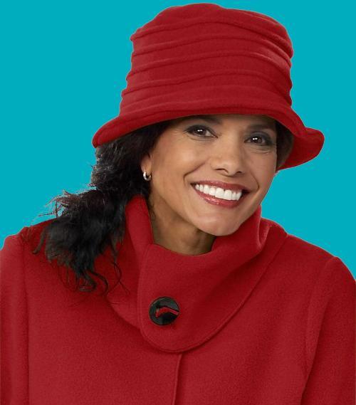 Red Spiral Brim Hat