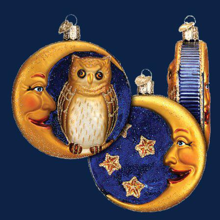 Old World ~ Owl In Moon