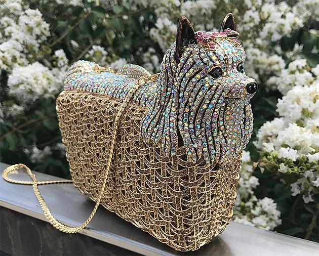 Jeweled Dog Handbag