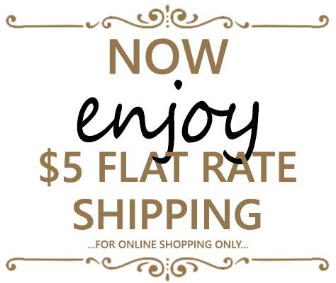 _5 Flat Rate Online Shipping
