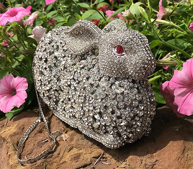Jeweled Rabbit Handbag
