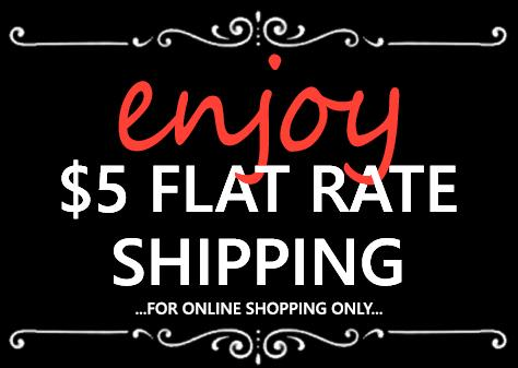 Online $5 Flat Rate Shipping