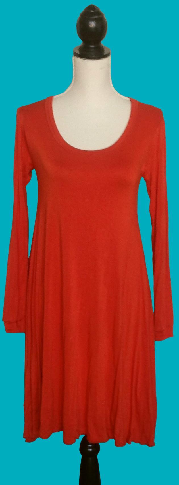 Orange Swing Dress