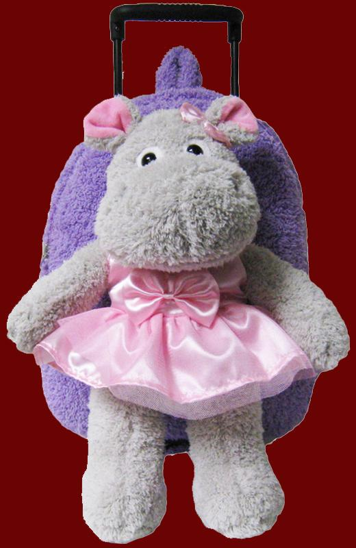 Ballet Hippo Rolling Backpack