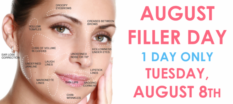 AUGUST 8th FILLER EVENT + RADIESSE BOGO