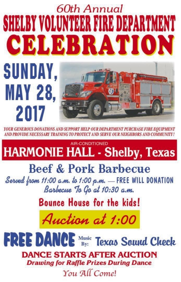 60th annual shelby volunteer fire department celebration