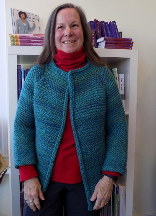 7714a8d1ca22 A spring jacket- shown here knit in Encore Colorspun- 8 skeins