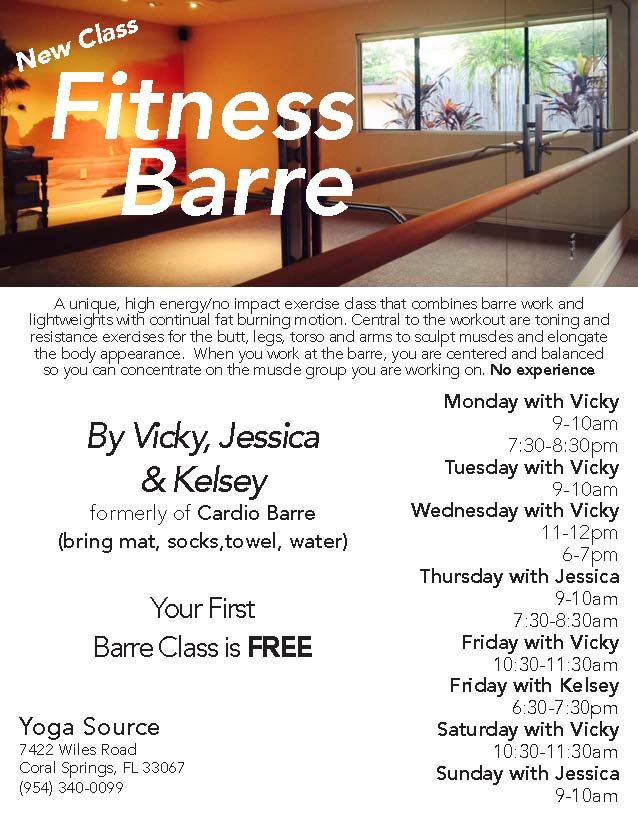 Fitness Barre Schedule May 2017
