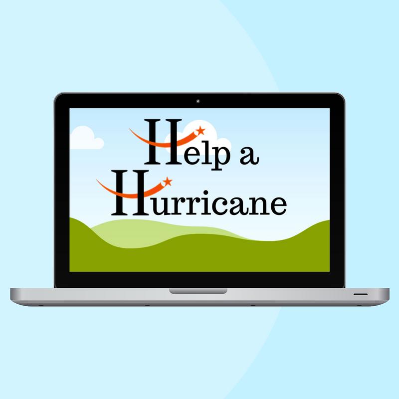help a hurricane logo