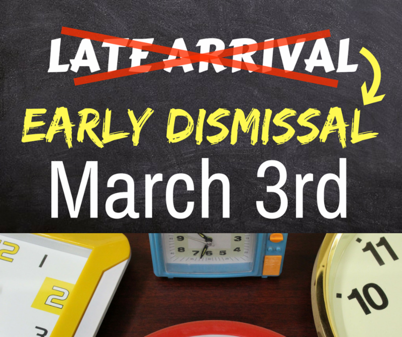 link image to early dismissal announcement