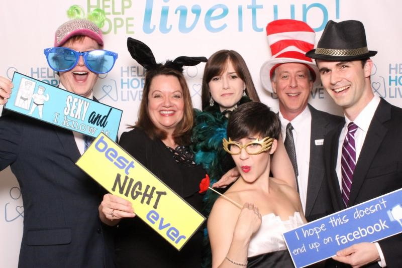 Photo_ The Kauffman and Parson families at Live It Up_