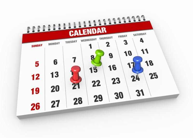Calendar with check mark as a concept