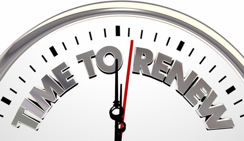Time to Renew Refersh Begin Again Clock 3d Illustration