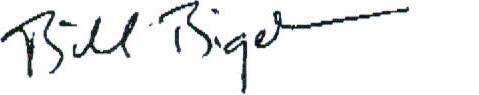 Bill Bigelow signature