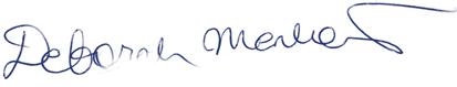Deborah Menkart signature