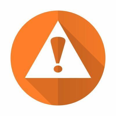 exclamation sign orange flat icon warning sign alert symbol