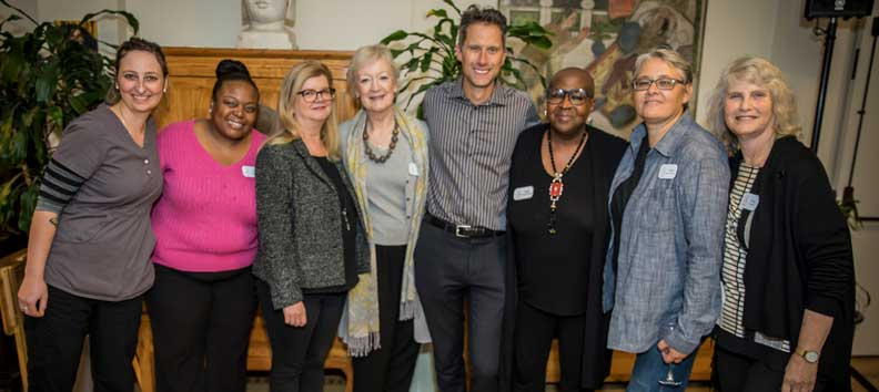 The Maitri Team with Board President Mike Niemeyer