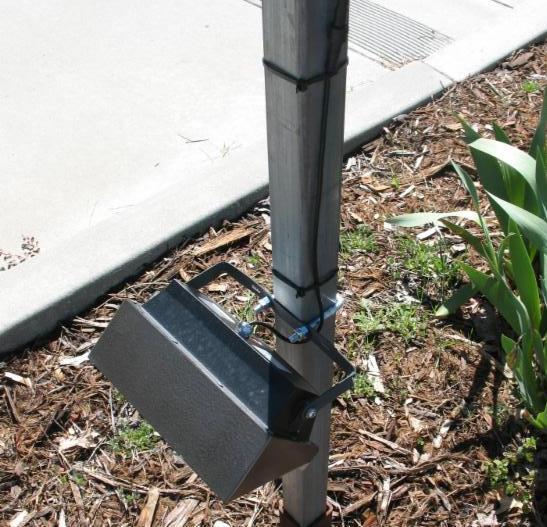 zip tied lamp post