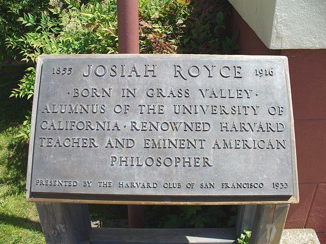 Plaque - Josiah Royce