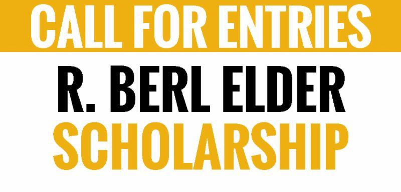 Call for Entries_ R. Berl Elder Scholarship