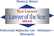 Tom Shroyer, Lawyer of the Year 2016