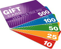 Donate While You Shop Gift Cards