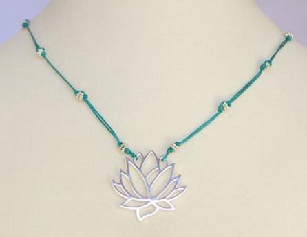 HERA Lotus Necklace by Bronwen