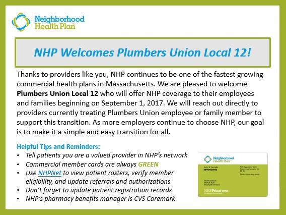 NHP Provider News - July 2017