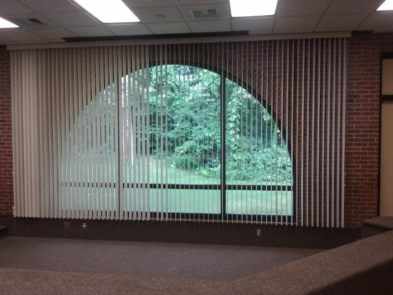 View of the new shades in the Silverstein.